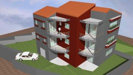 Residential complex with a basement and 2 apartments of 110 m2