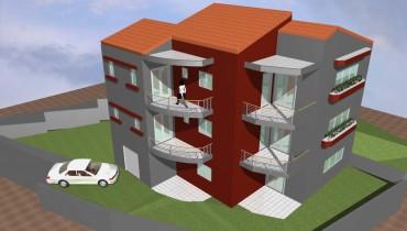 Συγκρότημα κατοικιών με υπόγειο και 2 διαμερίσματα των 110 τμ